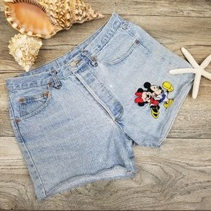 Vintage Too Cute Mickey Mouse Denim shorts Sz M